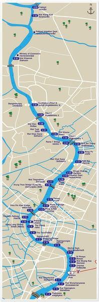 Chao Phraya Express Boat, map