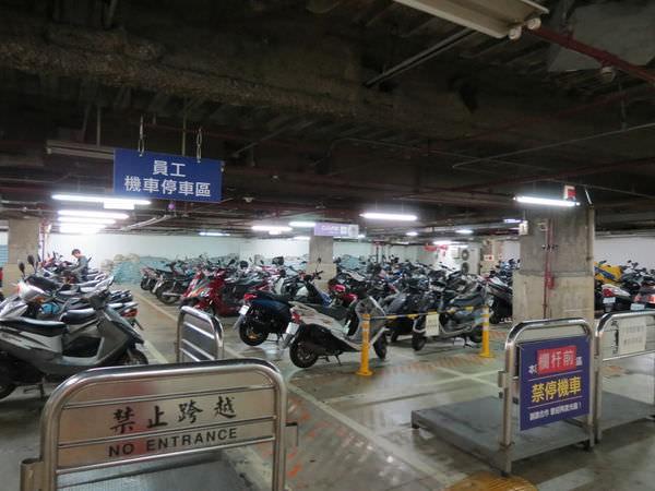 喜滿客京華影城, 樓層, B2, 機車停車場