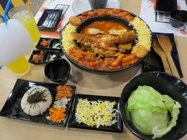Omaya乳溝起司春川炒雞@板橋實踐店, 餐點, 起士年糕鍋