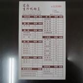 建丞生炒鴨肉羹, 點菜單(menu)