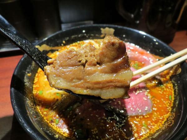 辣麻味噌沾麵鬼金棒, 肉增量