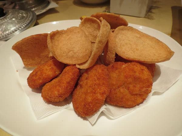 湄河餐廳, 餐點, 金錢蝦餅 & 蝦餅
