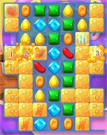 Candy Crush Soda Saga, 遊戲過關技巧, (蜂蜜)利用果凍魚幫你找小熊
