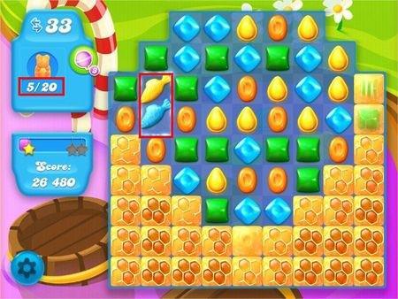 Candy Crush Soda Saga, 遊戲過關技巧, (蜂蜜)每層有多少隻小熊?