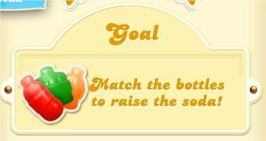 Candy Crush Soda Saga, goal, 合成蘇打瓶