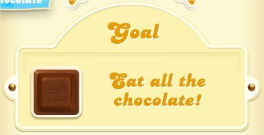 Candy Crush Soda Saga, goal, 吃光巧克力