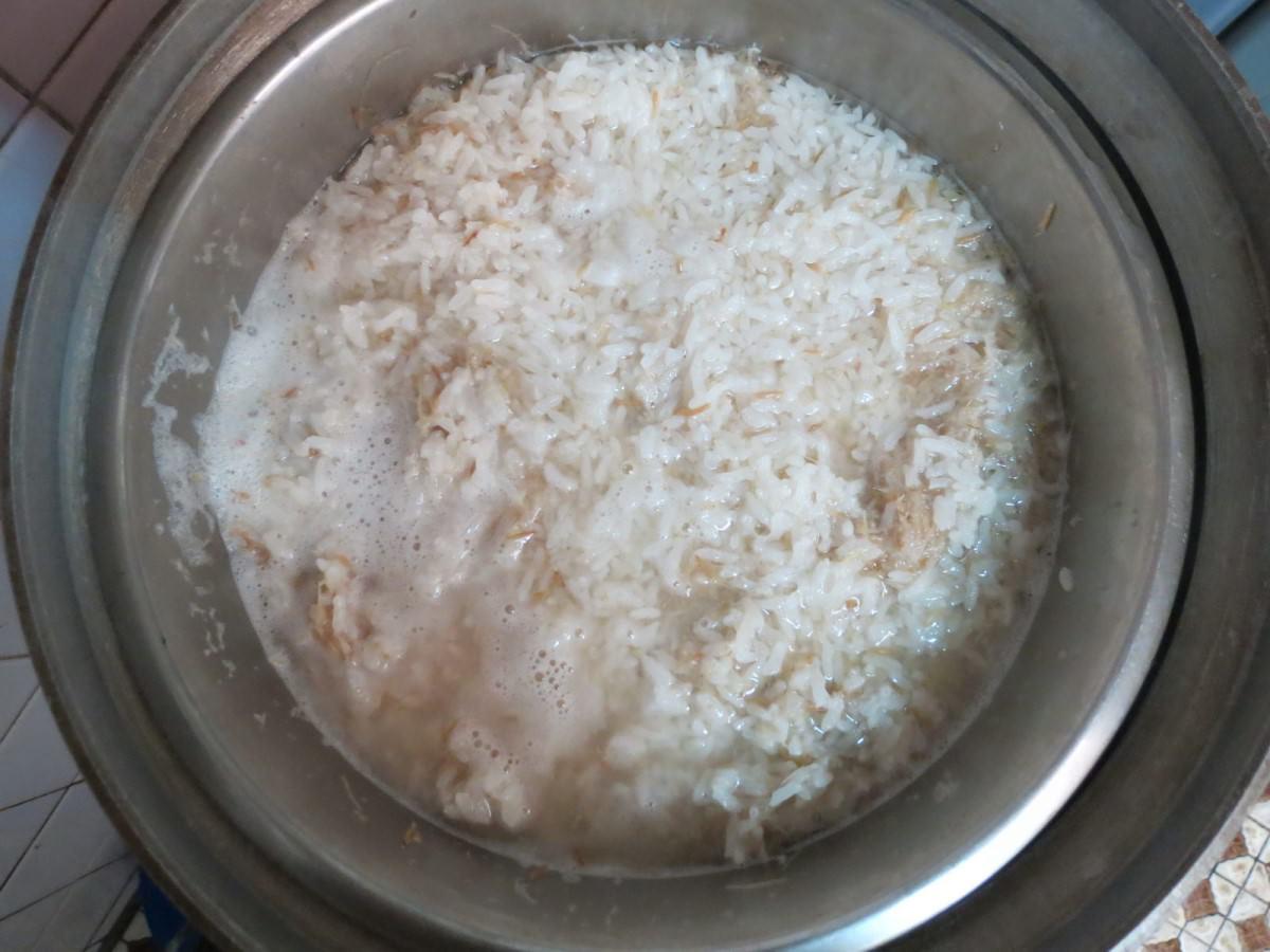 自製麥芽糖, 小麥草+糯米, 放電鍋