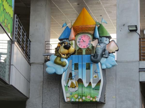 貓空纜車, 動物園站, 動物時鐘