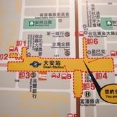 台北捷運, 紅線, 信義線, 大安站, 位置圖
