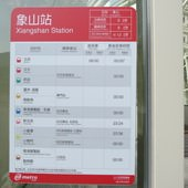 台北捷運, 紅線, 信義線, 象山站, 搭車時刻表