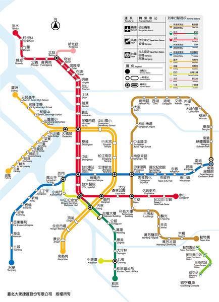 台北捷運, 行駛路網圖, 131124