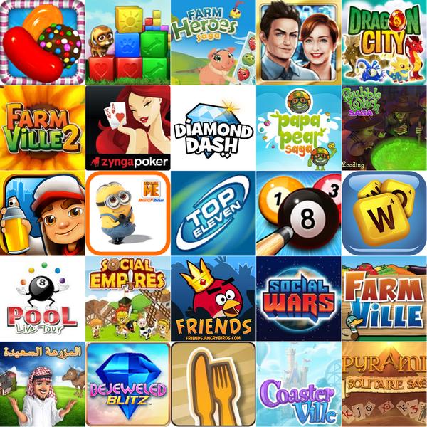 Facebook 最熱門的25個遊戲(2013年9月)