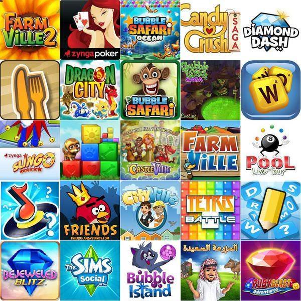 Facebook 最熱門的25個遊戲(2013年1月)