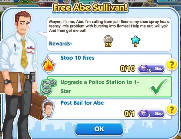 SimCity Social, Free Abe Sullivan!