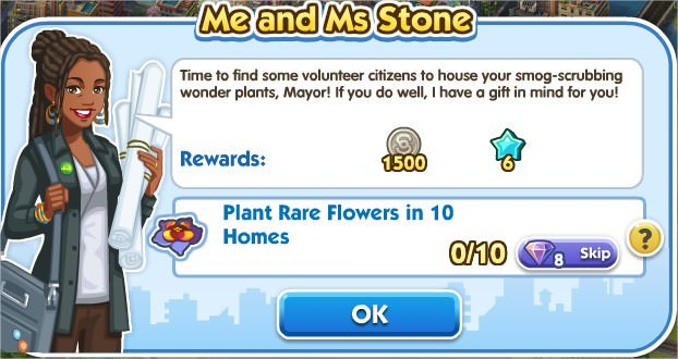 SimCity Social, Me and MS Stone