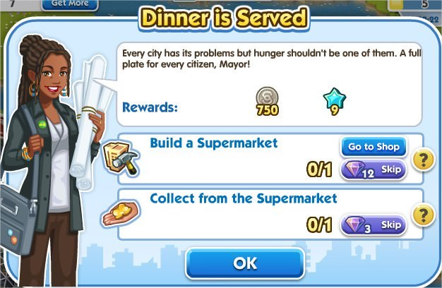 SimCity Social, Dinner is Served