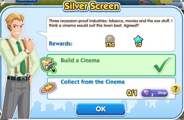 SimCity Social, Silver Screen