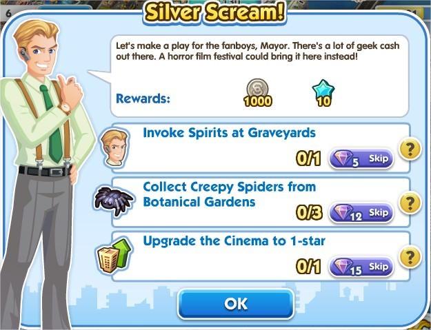 SimCity Social, Silver Scream!