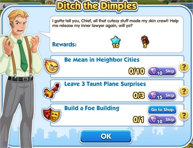 SimCity Social, Ditch the Dimples