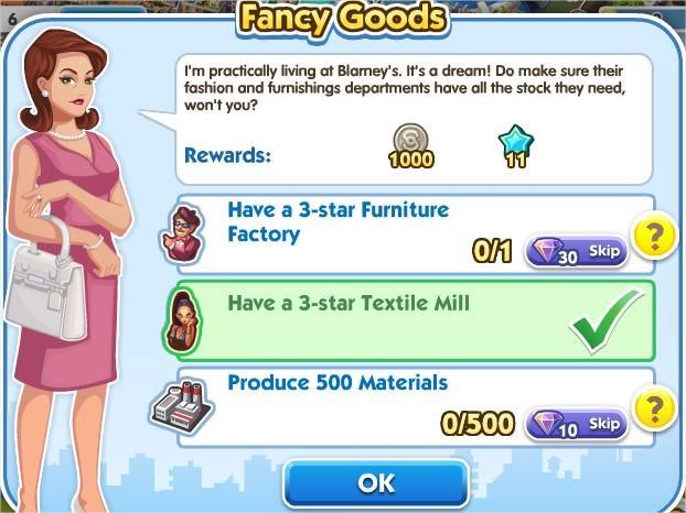 SimCity Social, Fancy Goods