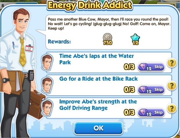 SimCity Social, Energy Drink Addict