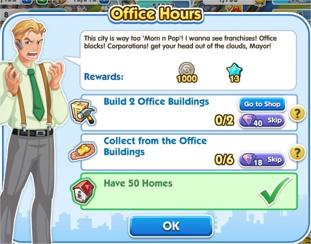 SimCity Social, Office Hours