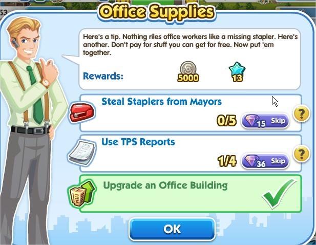 SimCity Social, Office Supplies