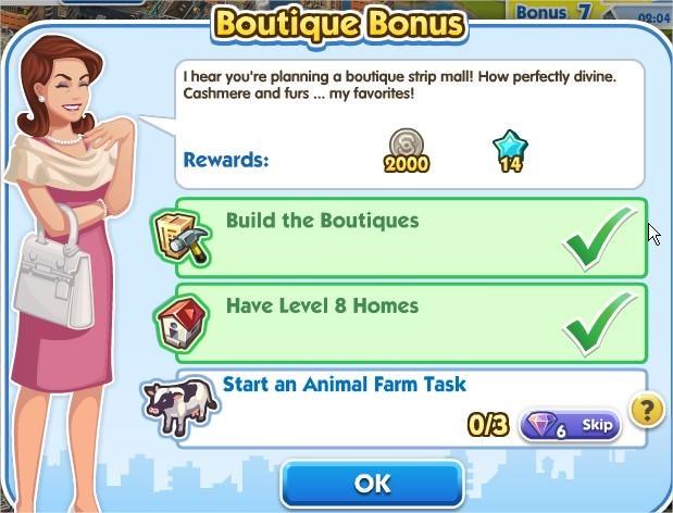 The Sims Social, Boutique Bonus