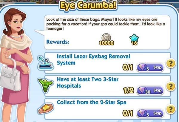 SimCity Social, Eye Carumba!