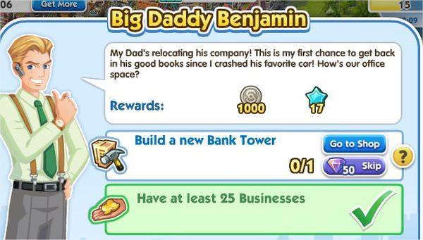 SimCity Social, Big Daddy Benjamin