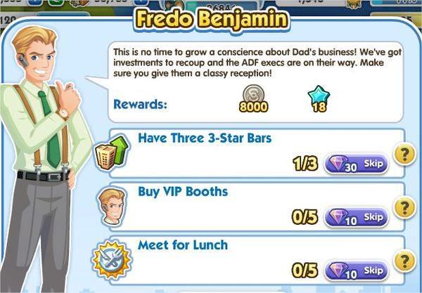 SimCity Social, Fredo Benjamin