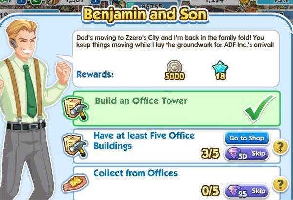 SimCity Social, Benjamin and Son