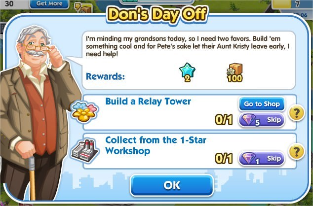 SimCity Social, Don's Day Off
