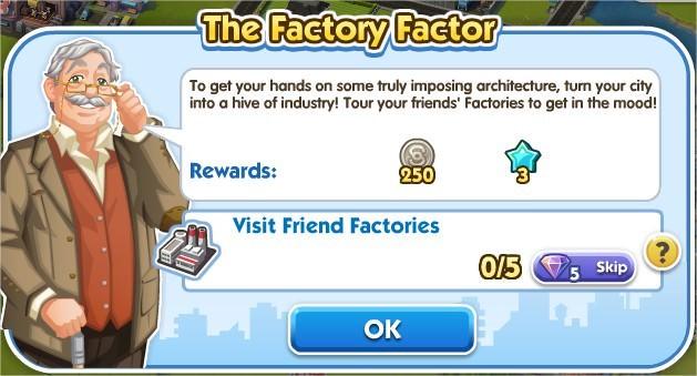 SimCity Social, The Factory Factor