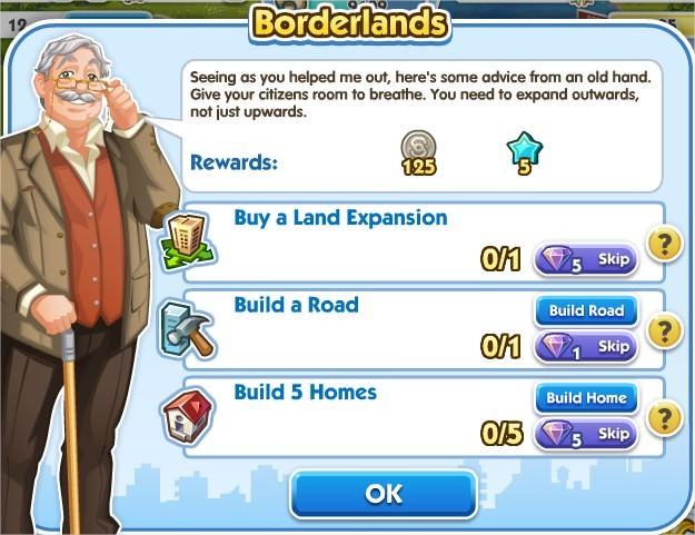 SimCity Social, Borderlands