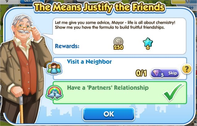 SimCity Social, The Means Justify the Friends