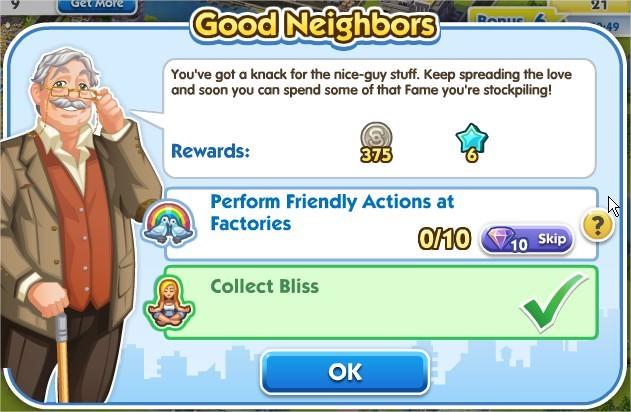 SimCity Social, Good Neighbors