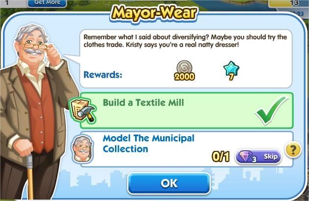 SimCity Social, Mayor-Wear