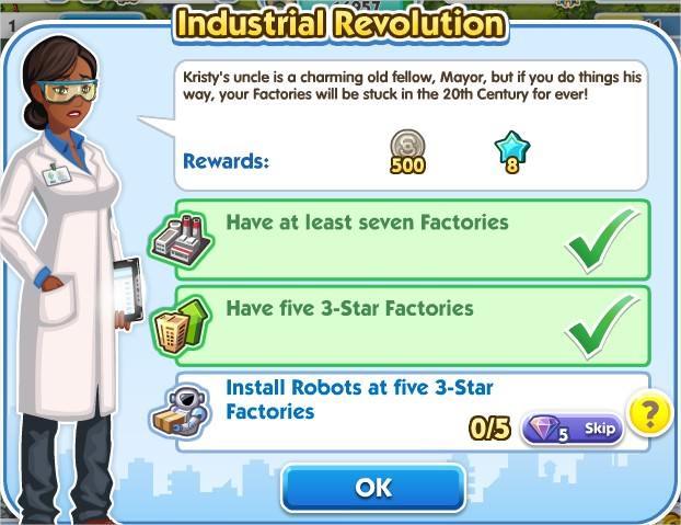 SimCity Social, Industrial Revolution