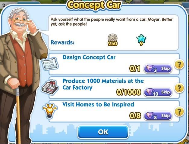 SimCity Social, Concept Car