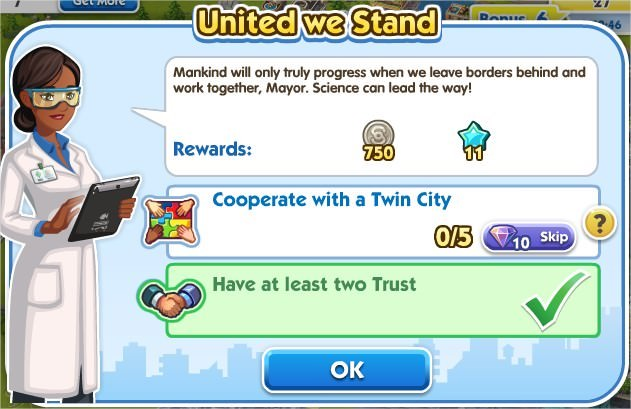 SimCity Social, United we Stand