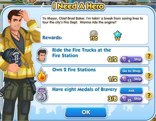 SimCity Social, I Need A Hero