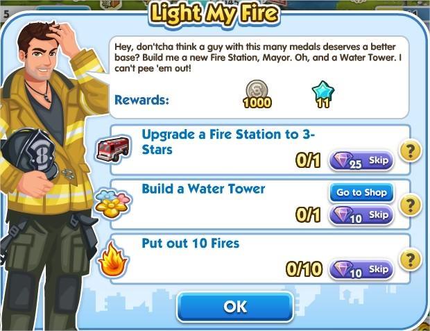 SimCity Social, Light My Fire