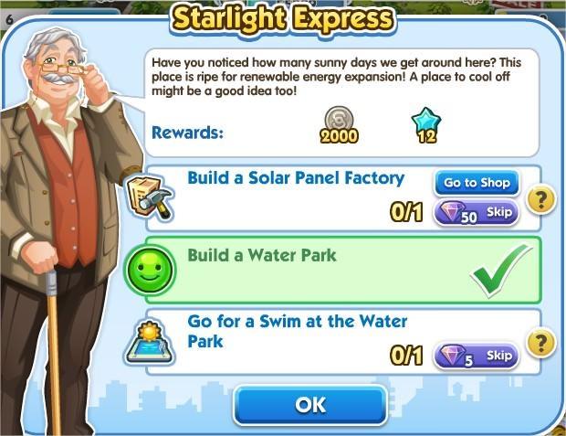 SimCity Social, Starlight Express