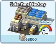 SimCity Social, Solar Panel Factory