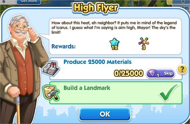 SimCity Social, High Flyer