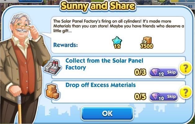 SimCity Social, Sunny and Share