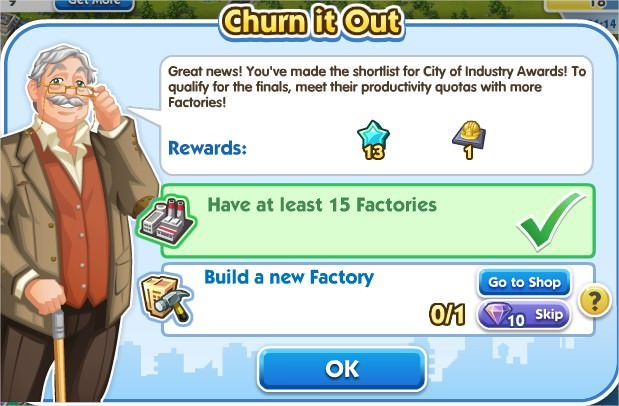 SimCity Social, Churn it Out