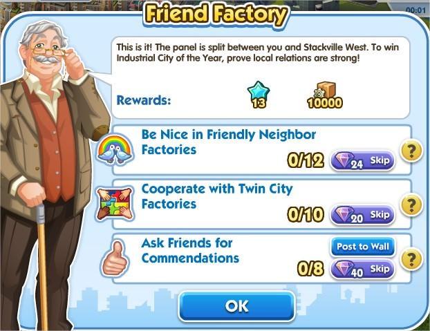 SimCity Social, Friwnd Factory