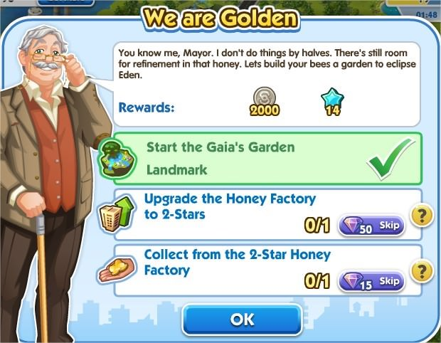 SimCity Social, We are Golden
